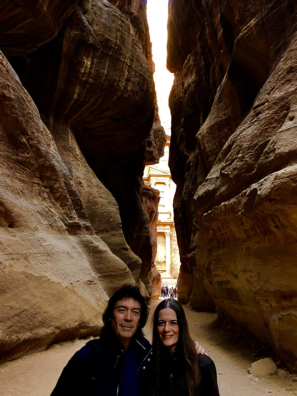 Steve and Jo in magical Petra, Jordan