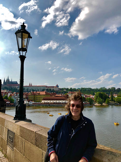 Steve on the Charles Bridge, Prague