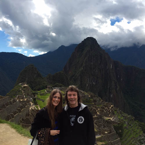 Steve and Jo at Machu Picchu - Peru