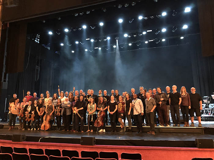 Band, orchestra, guests, crew, team - at the Palladium