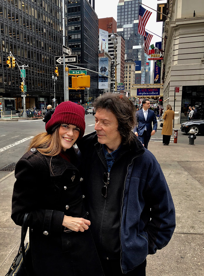 Steve with Jo in New York