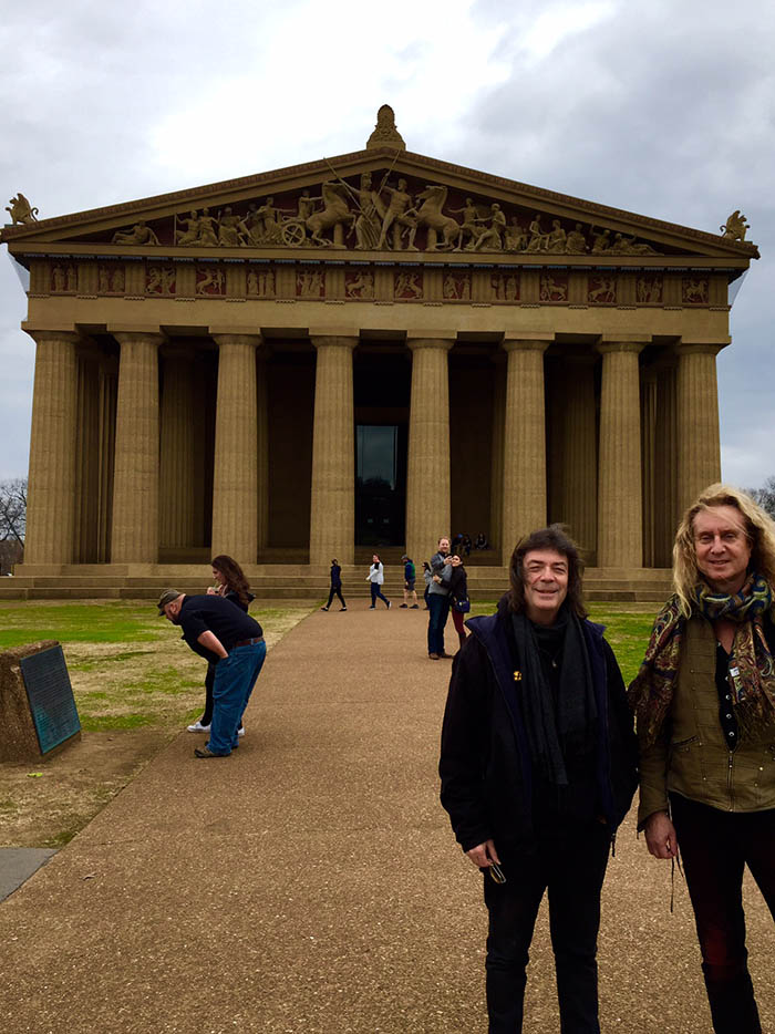 Steve and Nad at the Parthenon, Nashville