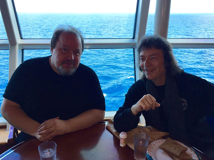 Steve with Steve Rothery
