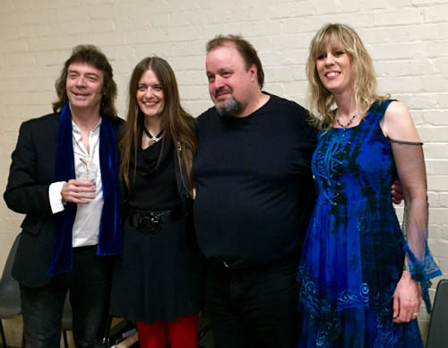 Steve, Jo, Steve Rothery and Amanda Lehmann at the London launch event