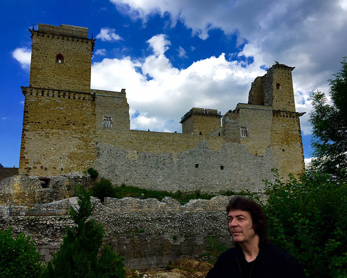 Steve and Castle of Diosgyor, Miskolc, Hungary