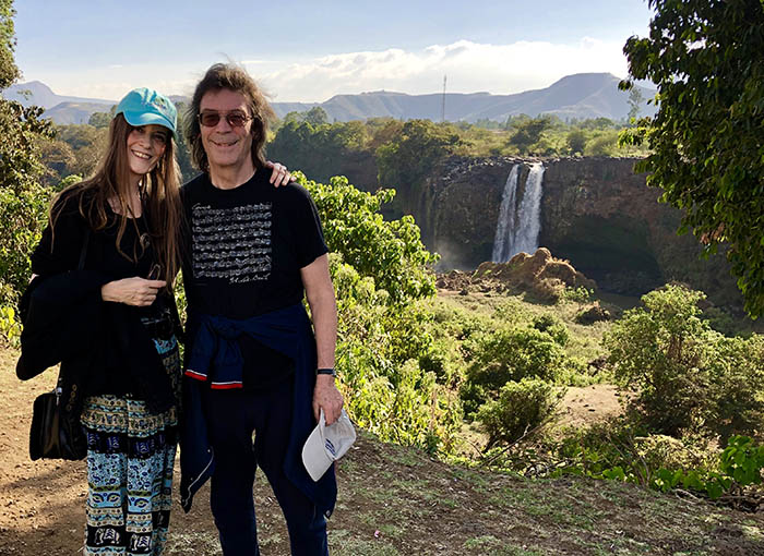 Steve and Jo at the Blue Nile Falls