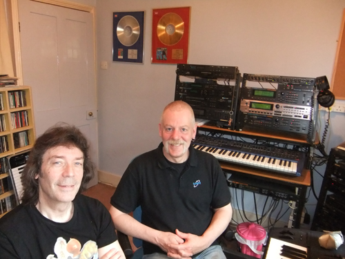 Steve with Nick Magnus at Nick's studio
