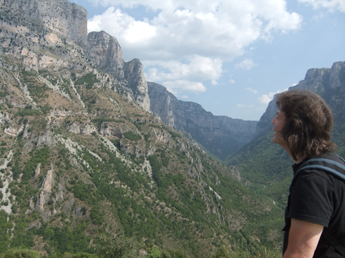 Steve exploring the Vikos Gorge