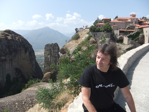 Steve with view of the Meteora
