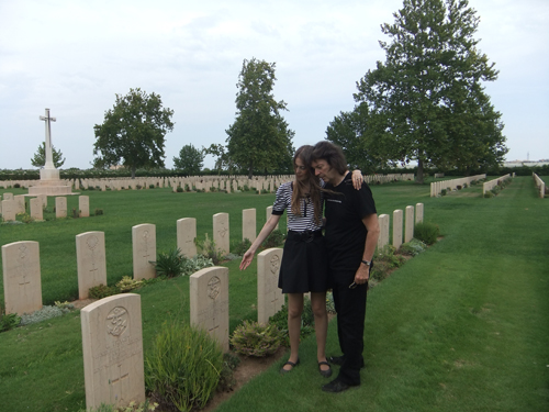 Jo and Steve at the war cemetery, Bari