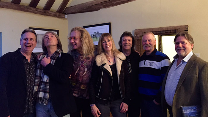 Harmony For Elephants project - Andy Neve, Anthony Phillips, Nad Sylvan, Amanda Lehmann, Steve Hackett, Nick Magnus and Dale Newman