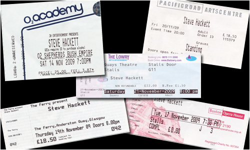 A selection of UK show tickets, courtesy of Alan Hewitt and TWR
