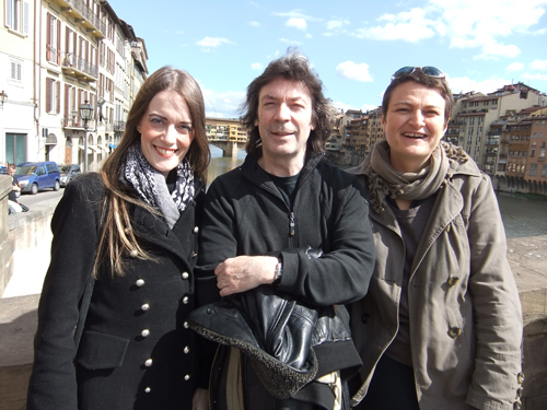 Jo, Steve and Vania near the Ponte Vecchia, Florence