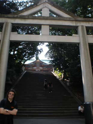 Steps to the shinto shrine