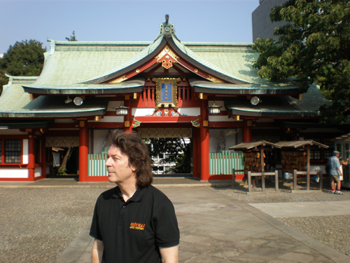 Steve outside the shinto shrine