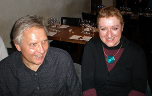Nick Clabburn and Jo Cummins in the restaurant
