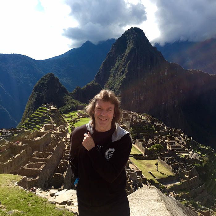 Steve at Machu Picchu, high up in the Cloud Forest