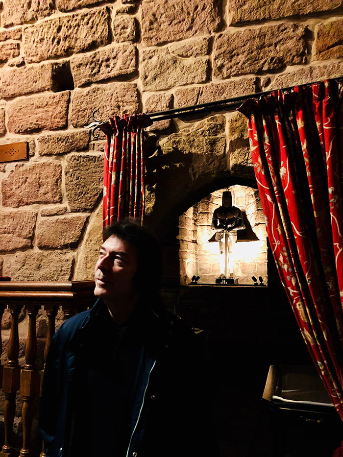 Steve in the Dalhousie Castle dungeon