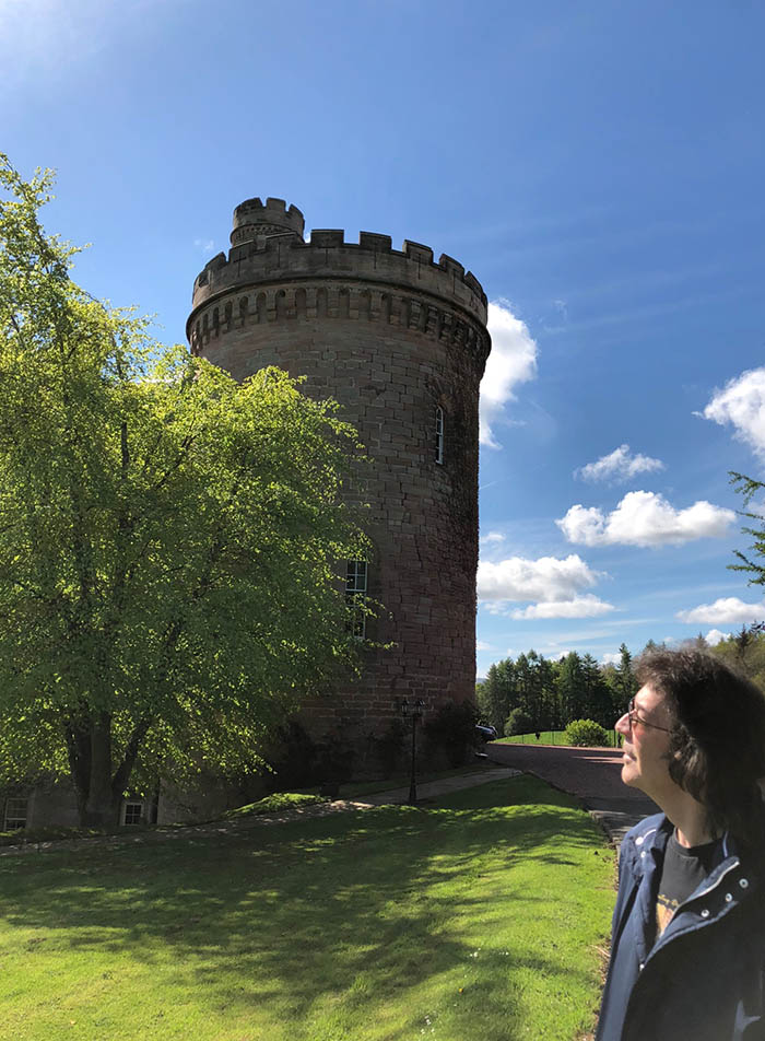 Steve at Dalhousie Castle