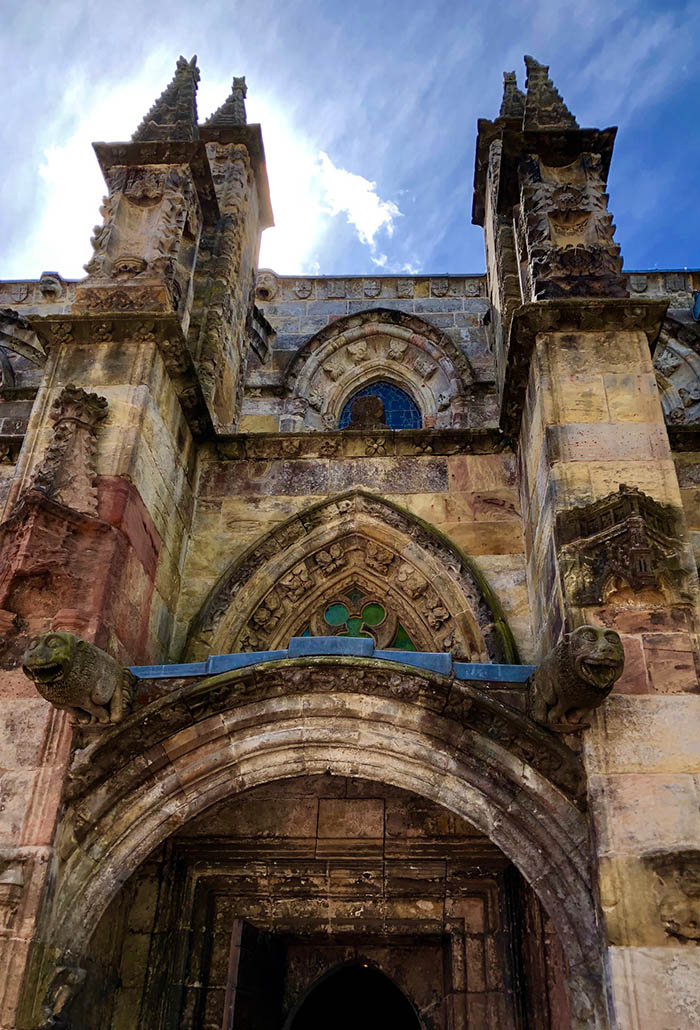 Entrance to Rosslyn Chapel