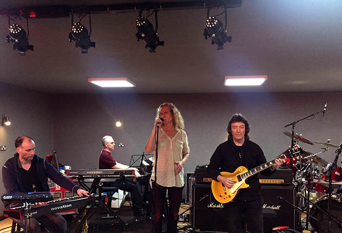 2017 rehearsals - Rob, Roger, Nad and Steve