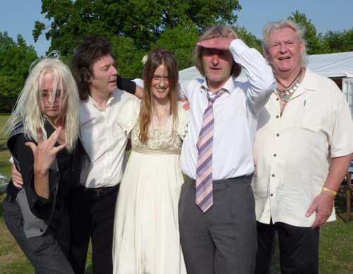 Nick, Steve, Jo, Ant and Chris, at the wedding June 2011