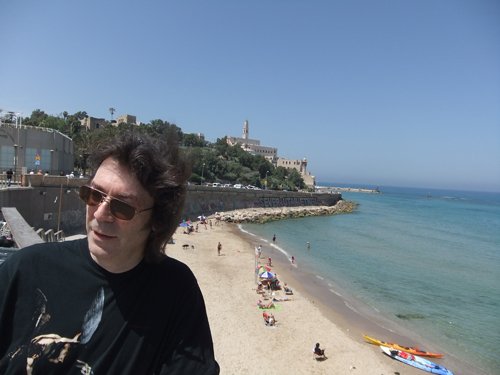 Steve with ancient Jaffa behind