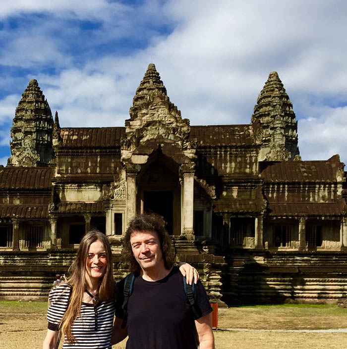 Steve and Jo at Angkor Wat, Cambodia