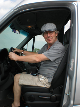 Brian at the wheel