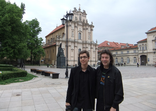 Roman and Steve, Warsaw old town