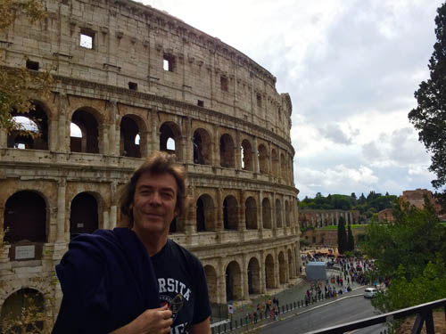 Steve beside the Coliseum, Rome