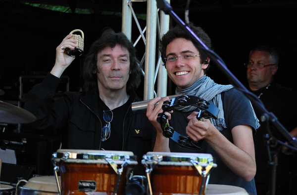 Steve Hackett with Bernd Ruf, orchestra, band and singers, Halle / Saale, Germany, June 2012