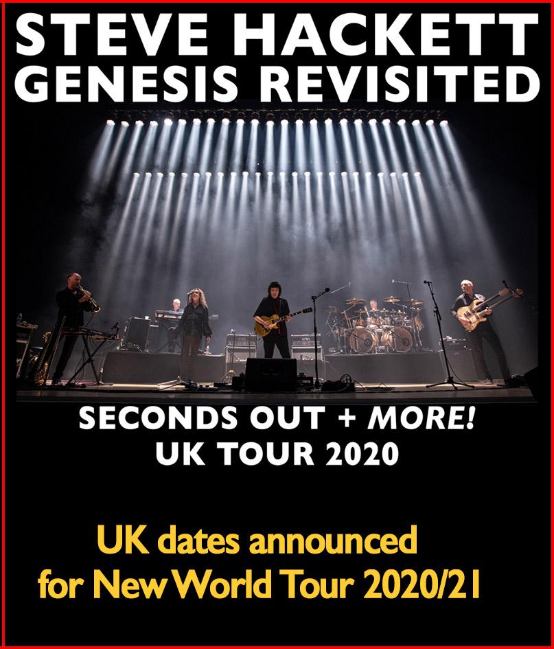 Peter Gabriel Tour 2020.Hackettsongs Steve Hackett S Official Music Website