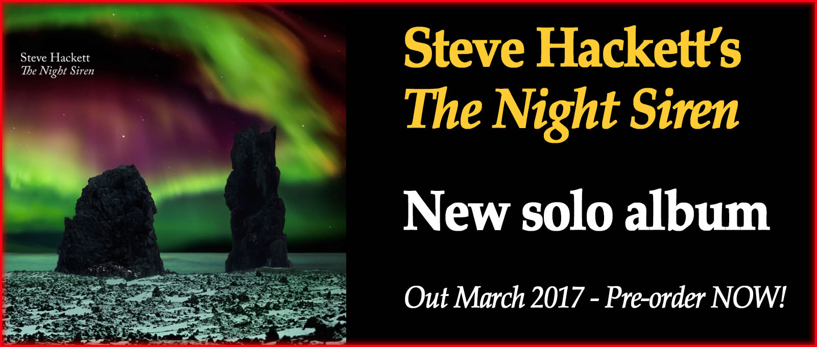 Steve Hackett - The Night Siren - new solo album