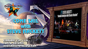 Steve Hackett sails on Cruise to the Edge 2017