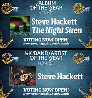 Vote for Steve - Prog Awards