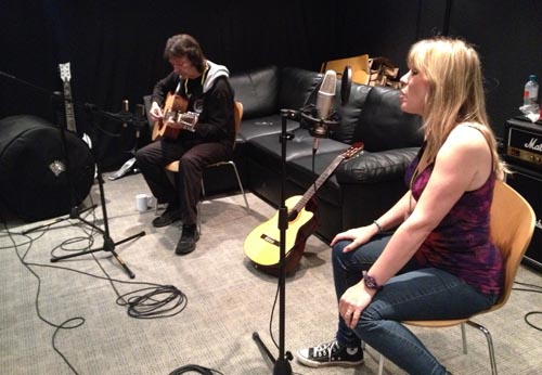 Steve and Amanda at Team Rock Radio studios