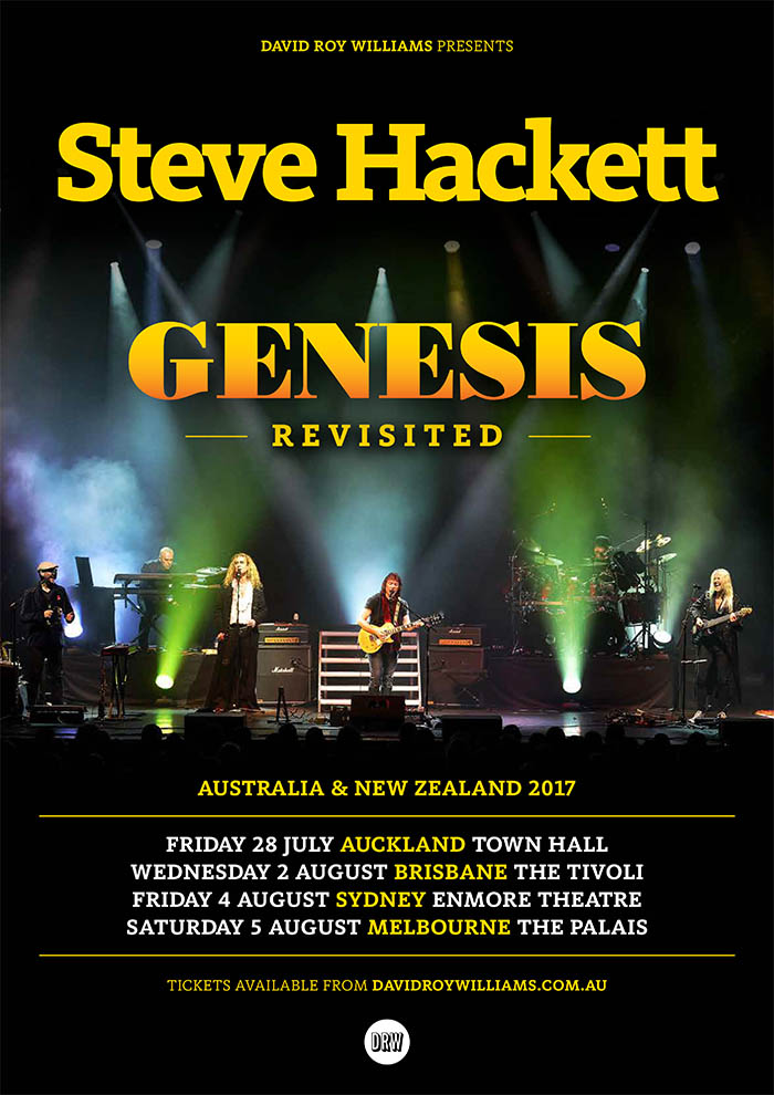 Steve Hackett Genesis Revisited Australia & New Zealand tour 2017