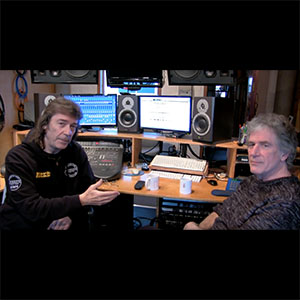 Steve Hackett in the studio