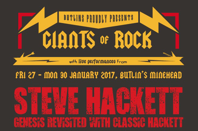 Steve Hackett to headline Giants of Rock Festival 2017